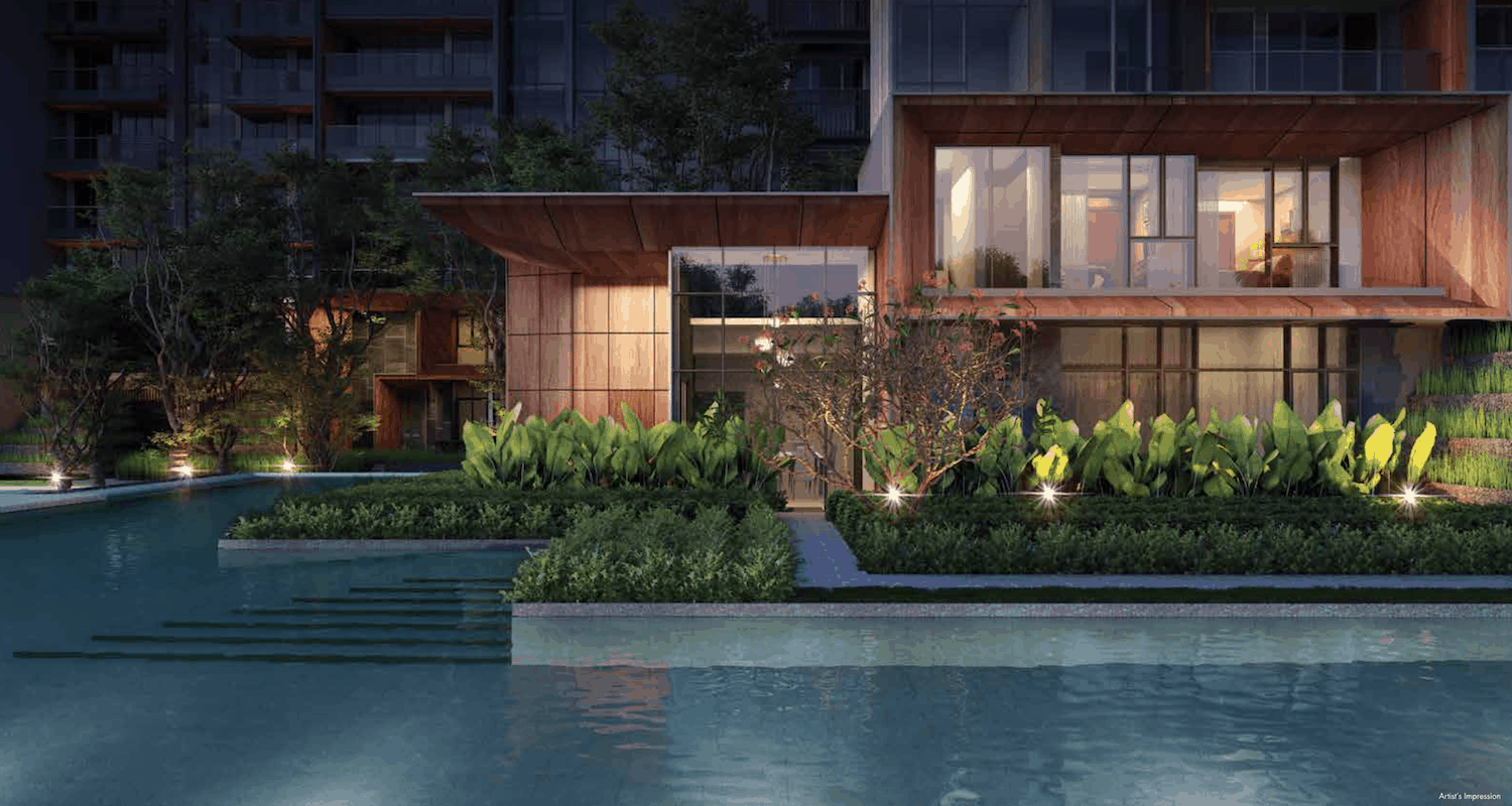 Leedon Green Artist Impression Pool View 2 Slider