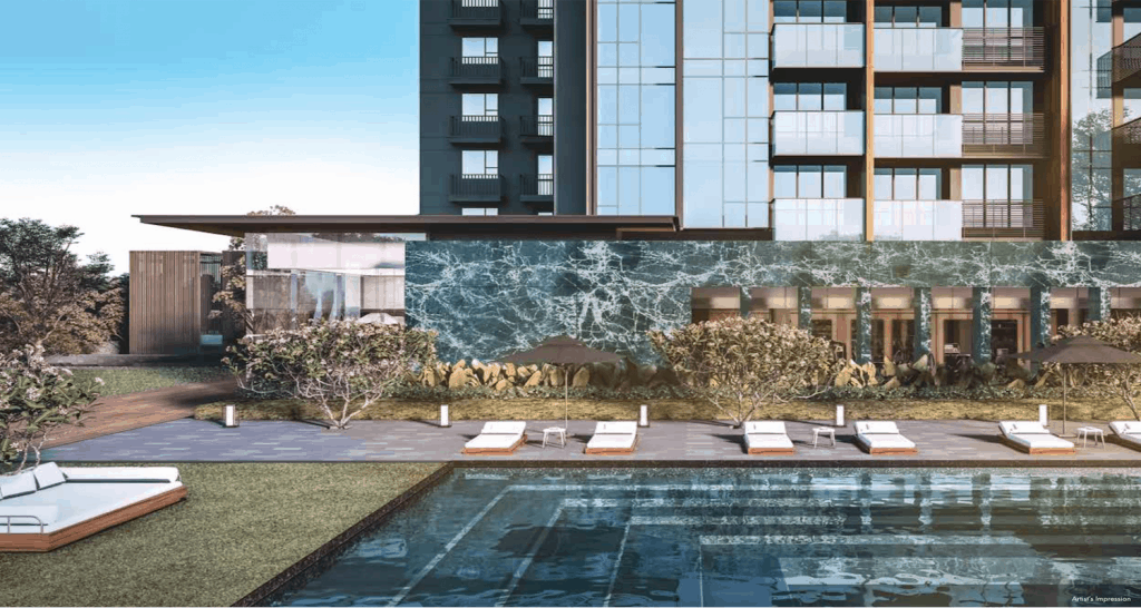 Leedon Green Artist Impression Pool View