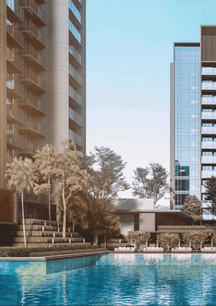 Leedon Green Artist Impression Pool View Portrait