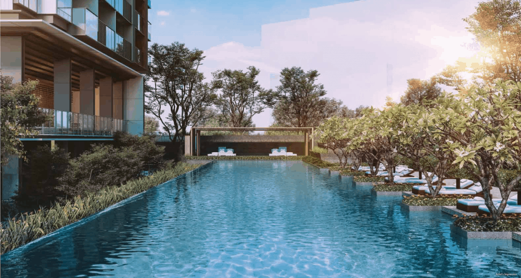 Leedon Green Artist Impression Pool View Slider