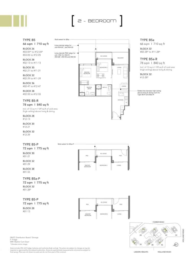 Leedon Green Floor Plan Type B5, B5a, B5-P