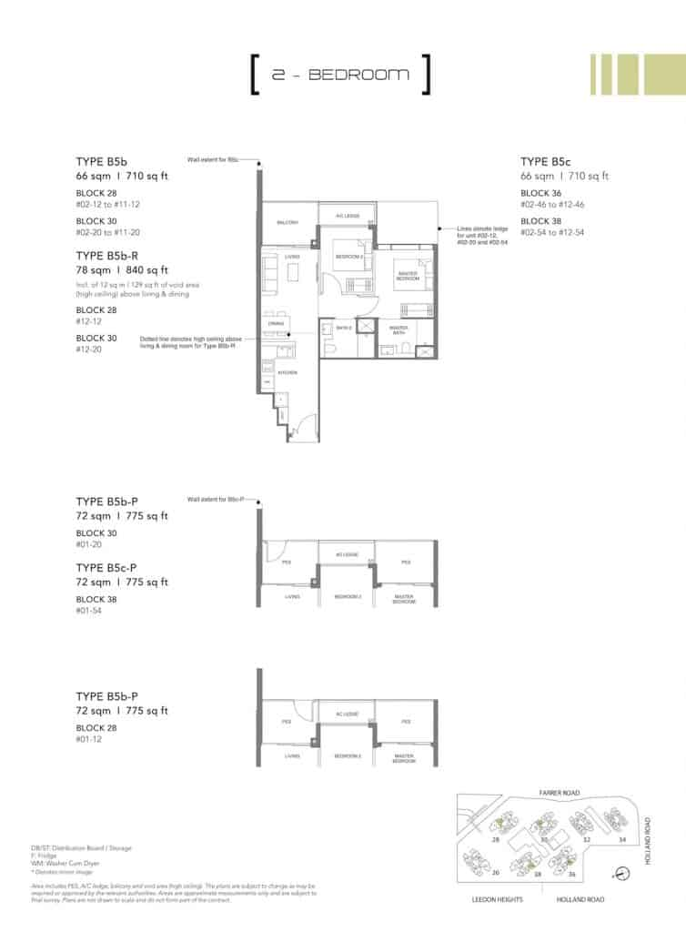 Leedon Green Floor Plan Type B5b, B5c, B5b-P