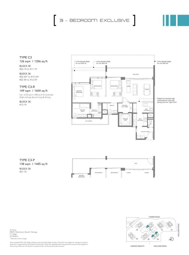 Leedon Green Floor Plan Type C3, C3-P