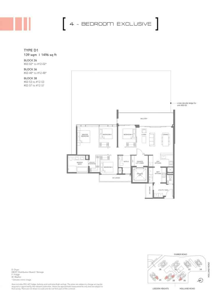 Leedon Green Floor Plan Type D1