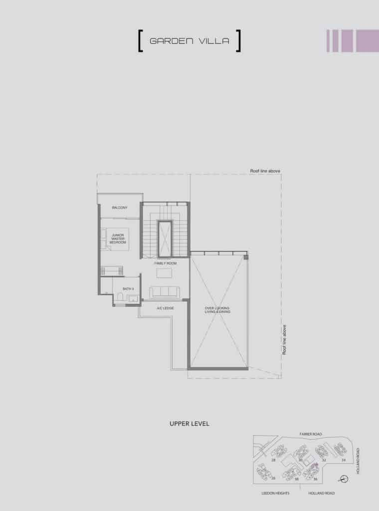 Leedon Green Floor Plan Type E1 Upper Level