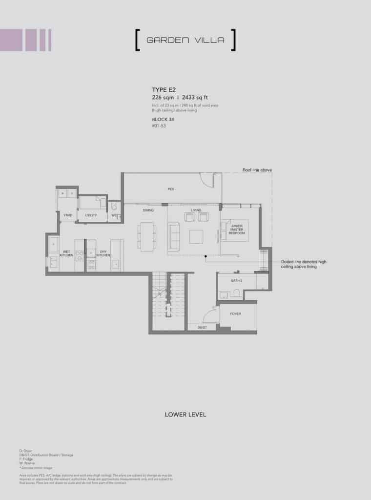Leedon Green Floor Plan Type E2 Lower Level