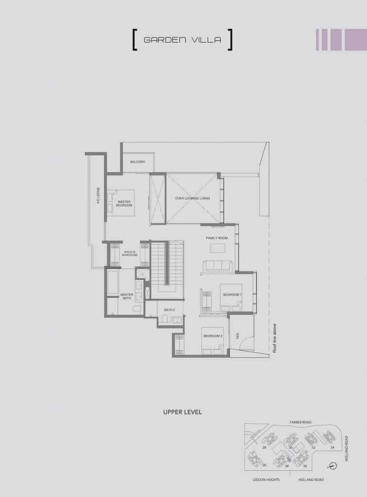 Leedon Green Floor Plan Type E2 Upper Level
