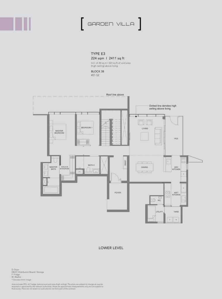 Leedon Green Floor Plan Type E3 Lower Level