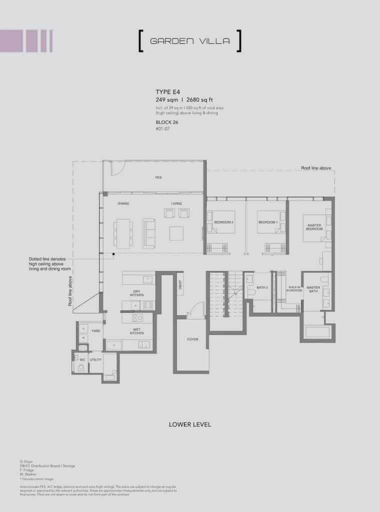 Leedon Green Floor Plan Type E4 Lower Level
