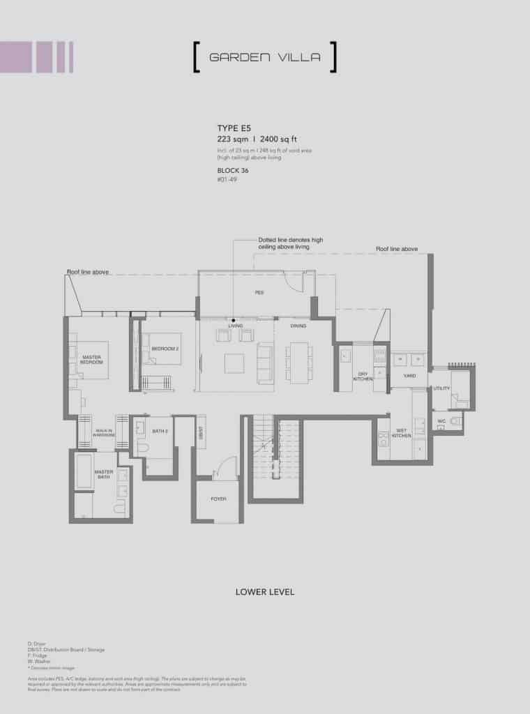 Leedon Green Floor Plan Type E5 Lower Level