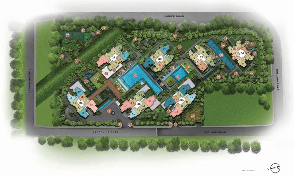 Leedon Green Site Plan