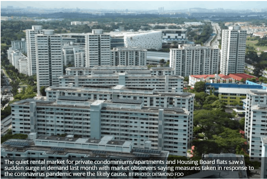 March sees jump in demand for rental apartments