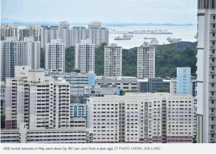 HDB rental volumes